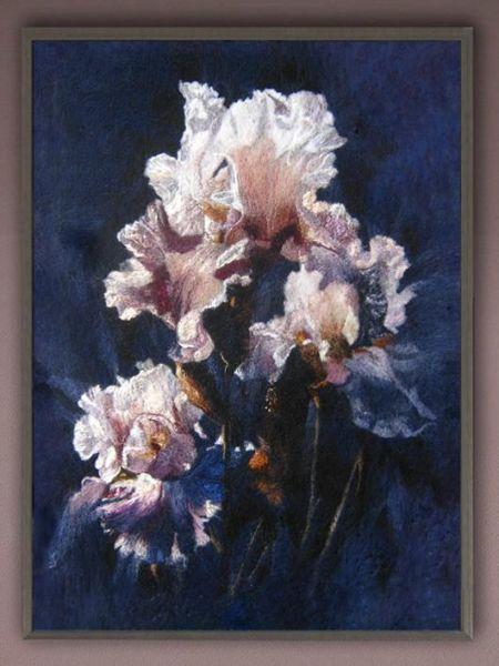 """Purple Iris "".Сollin Вogle"