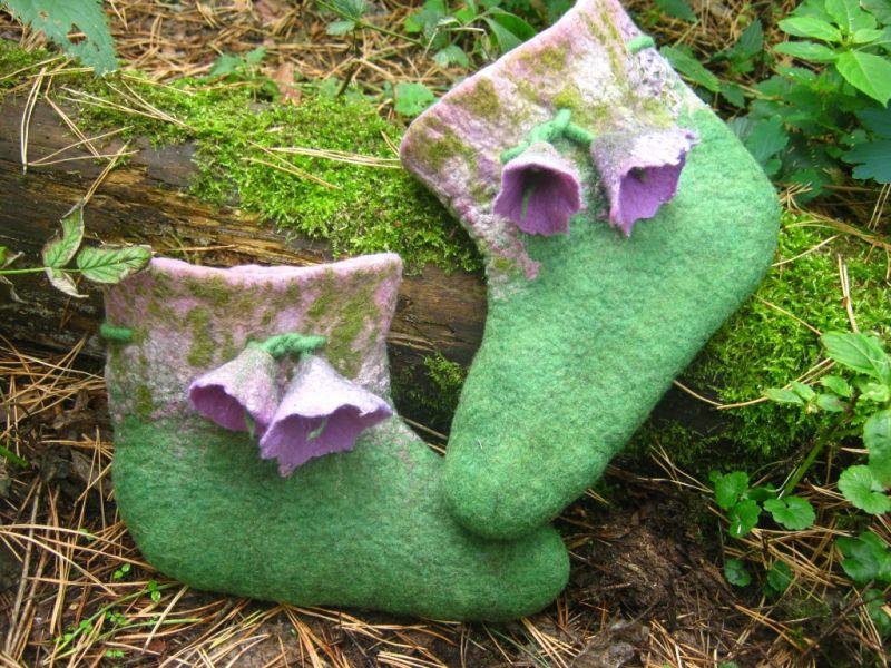Ичики (толстые валяные носки ) войлочные для девочки-подростка.