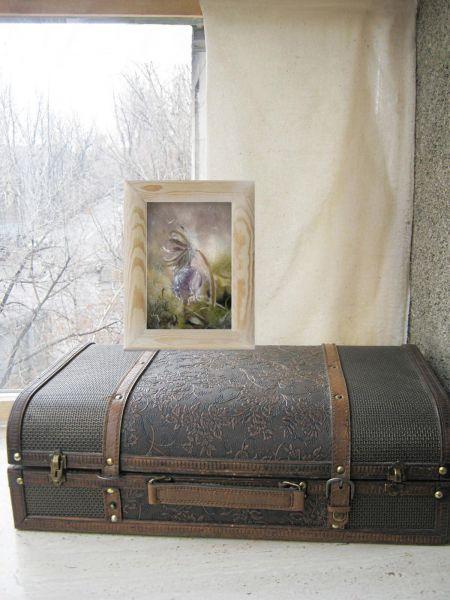 """Картина из шерсти """"Утро Вселенной""""."""