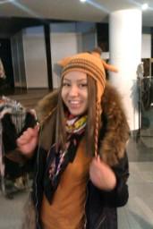 шапка вязаная Жираф