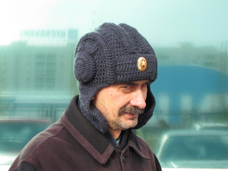 IШапка вязаная шлем танкиста