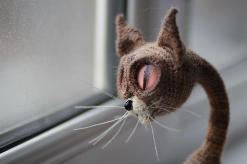 вязаная игрушка Кошка по описанию Светланы Перцевой