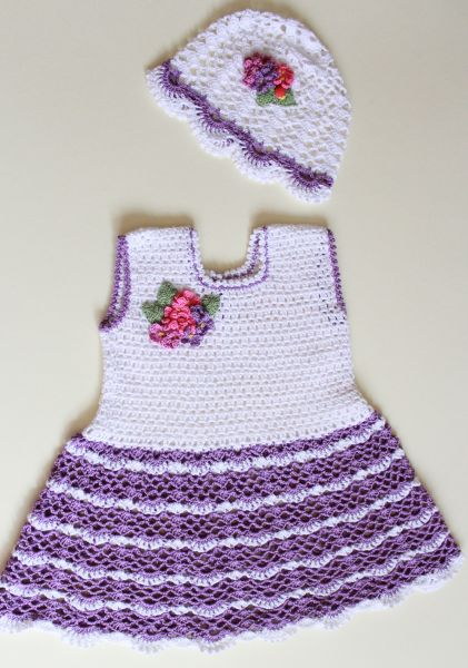 Платье для девочки летнее вязаное крючком