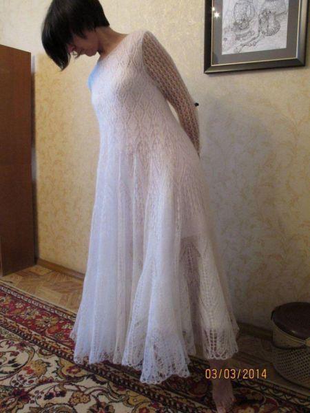 Платье вязаное мохеровое на заказ