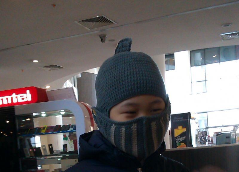 Шапка вязаная Шлем рыцаря