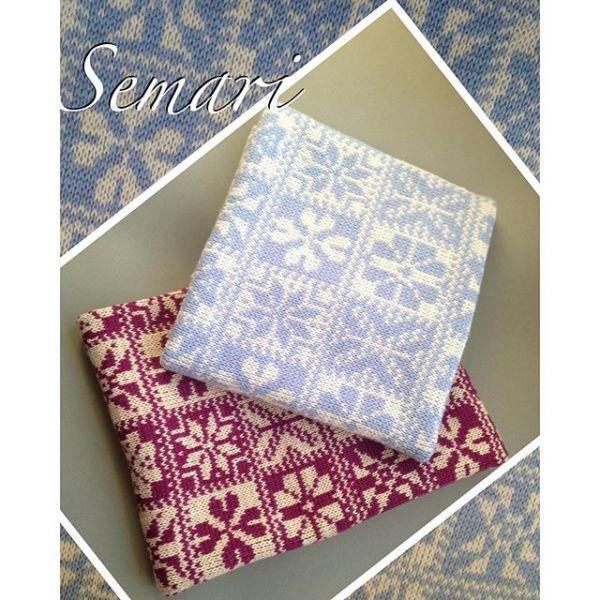Вязаное одеяло в коляску