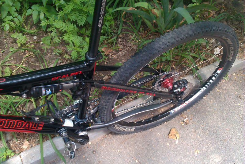 Scalpel rear wheel left side
