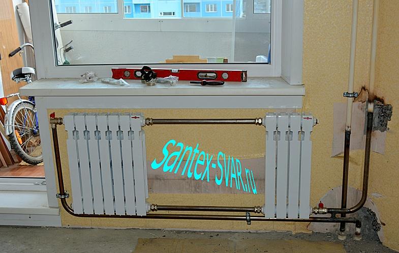 2 радиатора последовательно на стояк