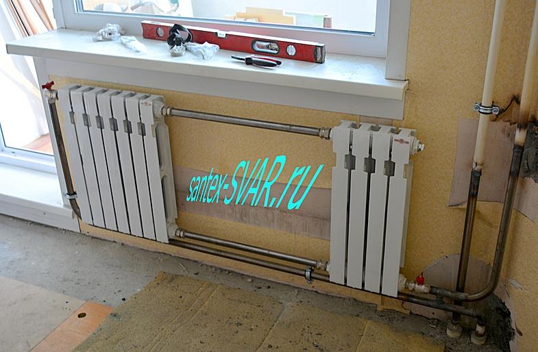 монтаж отопления на сварке замена радиаторов