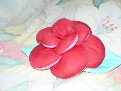 подушка роза