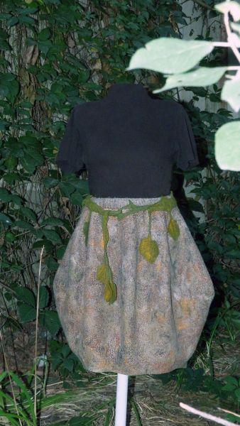 войлочная юбка с карманами