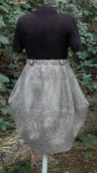 Юбка тюльпан из шерсти