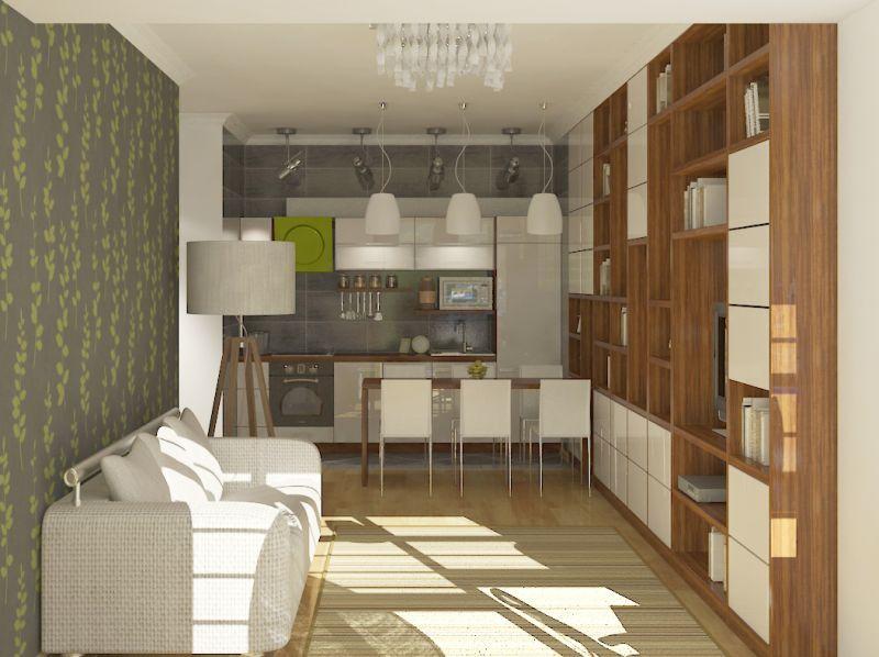 """Двухкомнатная квартира в ЖК """"Central Park"""" Вариант 1"""