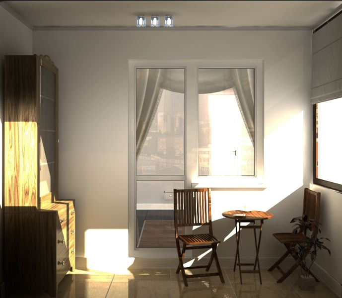 056 балкон кухни