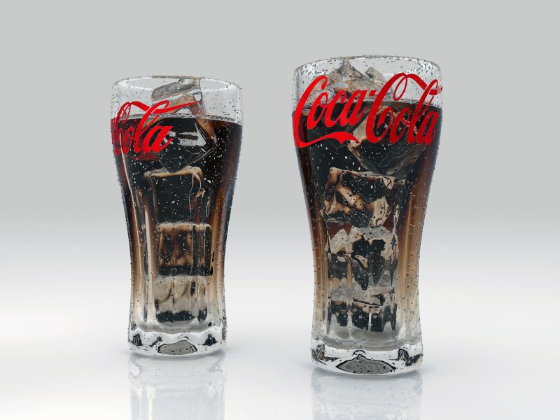 coke Ice glass render0000