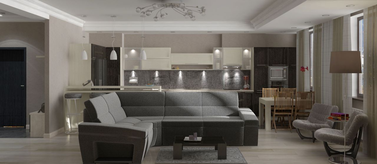 гостиная квартира 174 кв.м