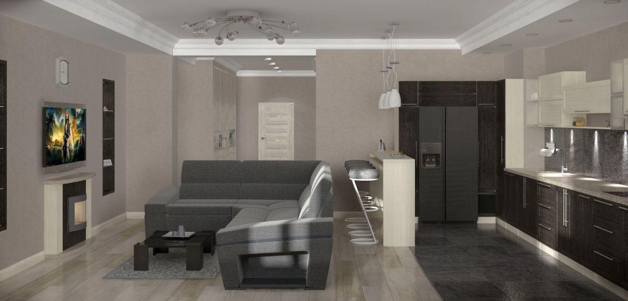 гостиная квартира 174кв.м