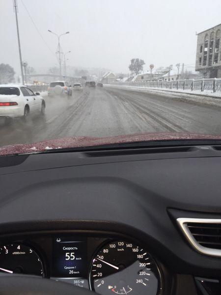 щетки с подогревом, отличный обзор на зимней дороге