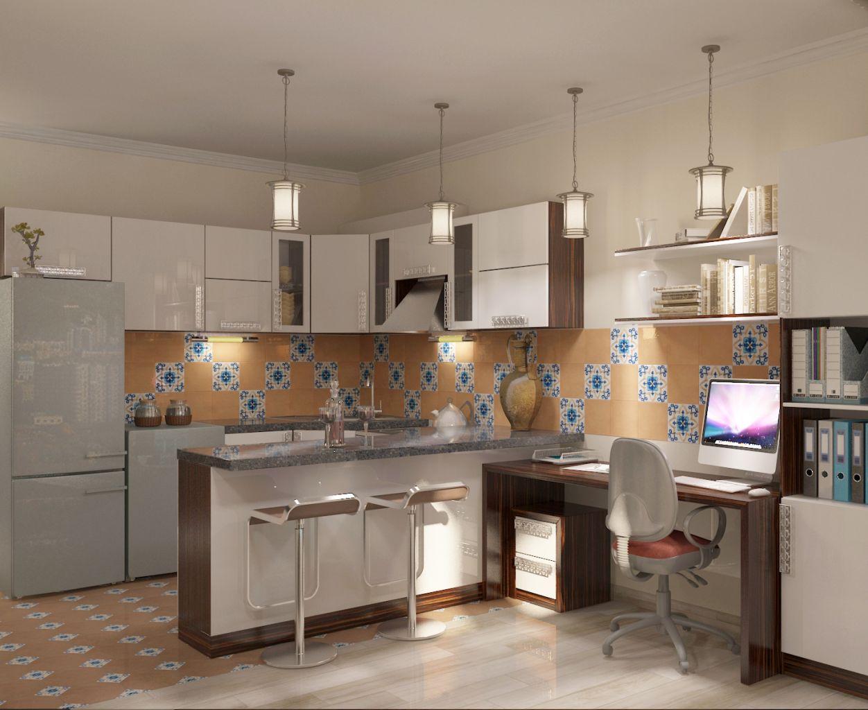 Кухня и кабинет