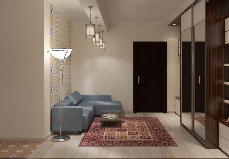 Прихожая гостиная кухня столовая кабинет балкон0036