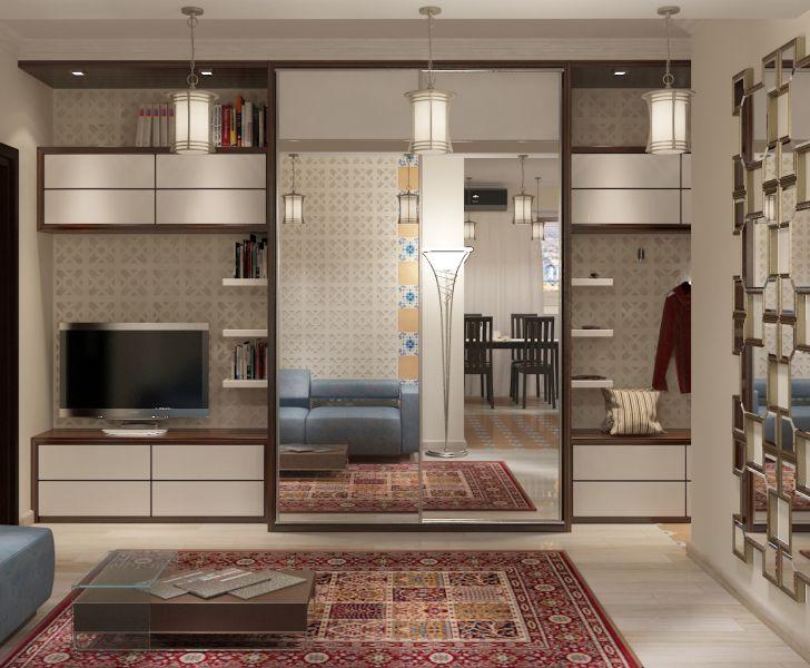 Прихожая гостиная кухня столовая кабинет балкон0042