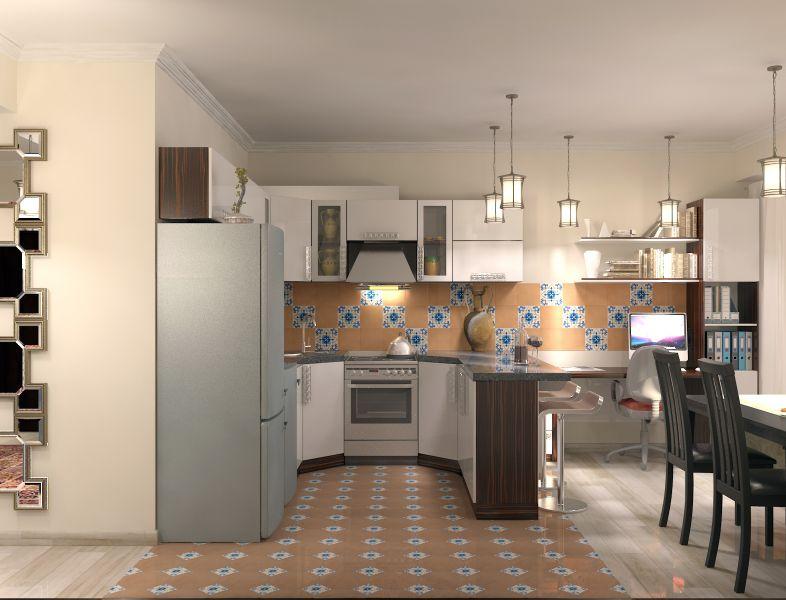Прихожая гостиная кухня столовая кабинет балкон0046