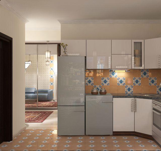 Прихожая гостиная кухня столовая кабинет балкон0048