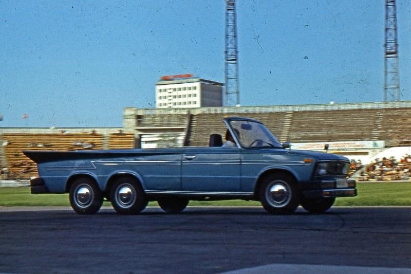 Трехосный фаэтон ВАЗ–21035 группы автокаскадеров «Автородео», 1980–е годы, Алма–Ата