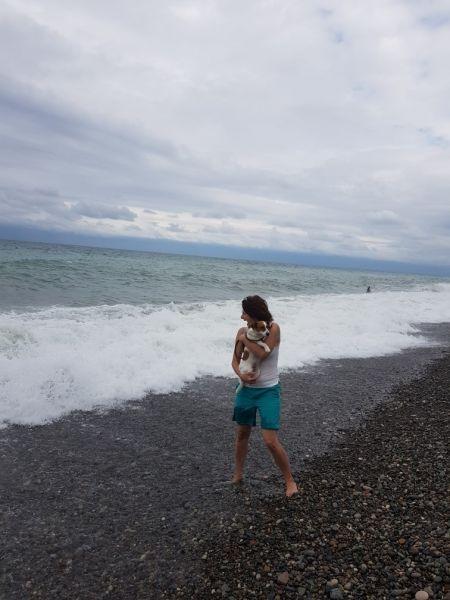 Тама - не могущая вырваться от хозяина и убежать от злого моря собака
