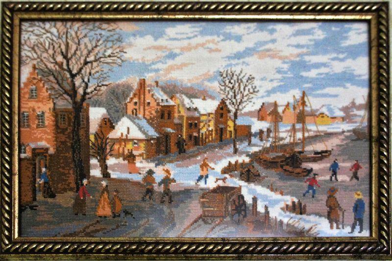 Зимний пейзаж. Голландия (Ян Оостен) (Сотвори сама)