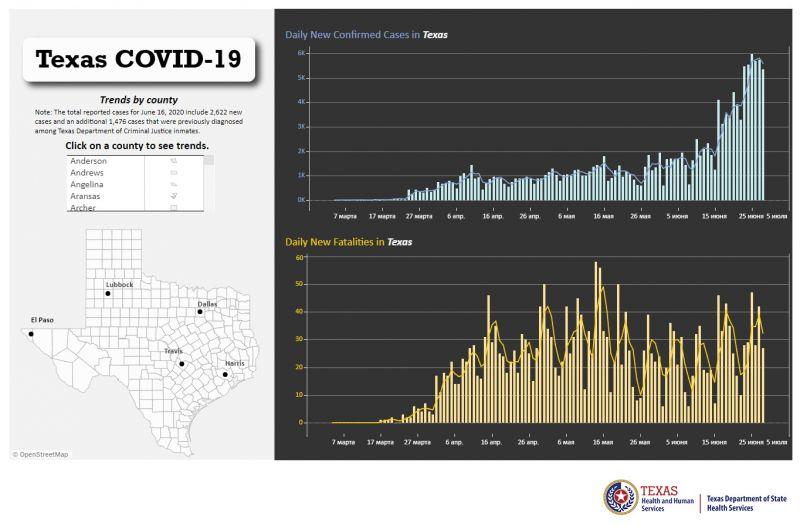 Texas COVID-19 Case