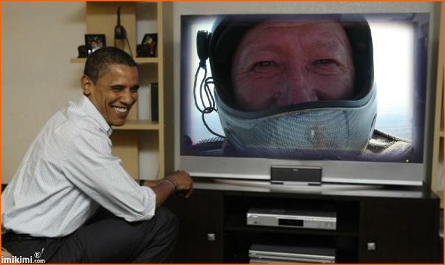 Обама тоже телик смотрит