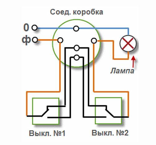 схема одноклавишного проходного