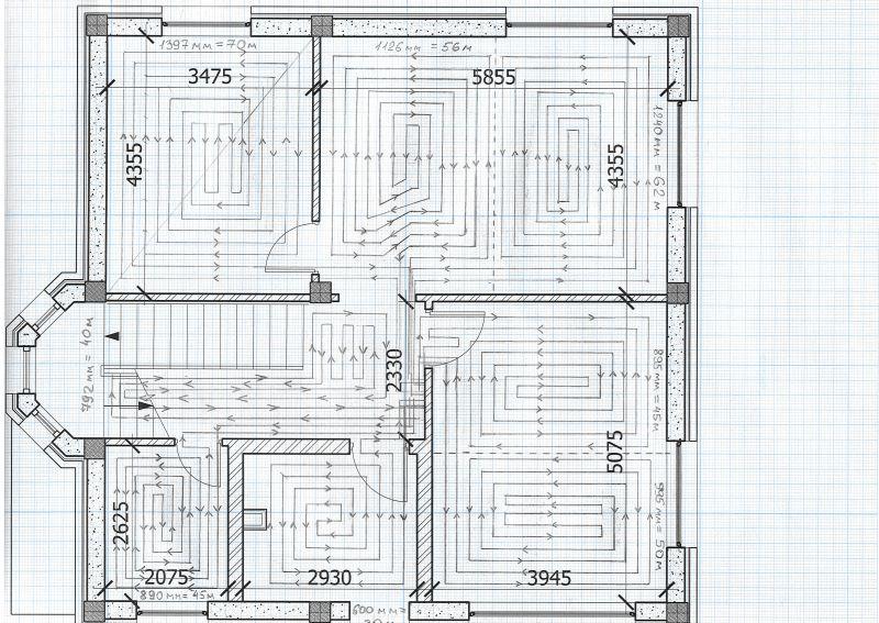 Теплый пол 1 этаж