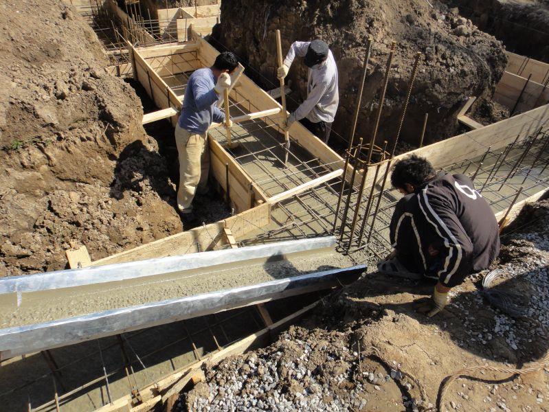 Заливка бетон