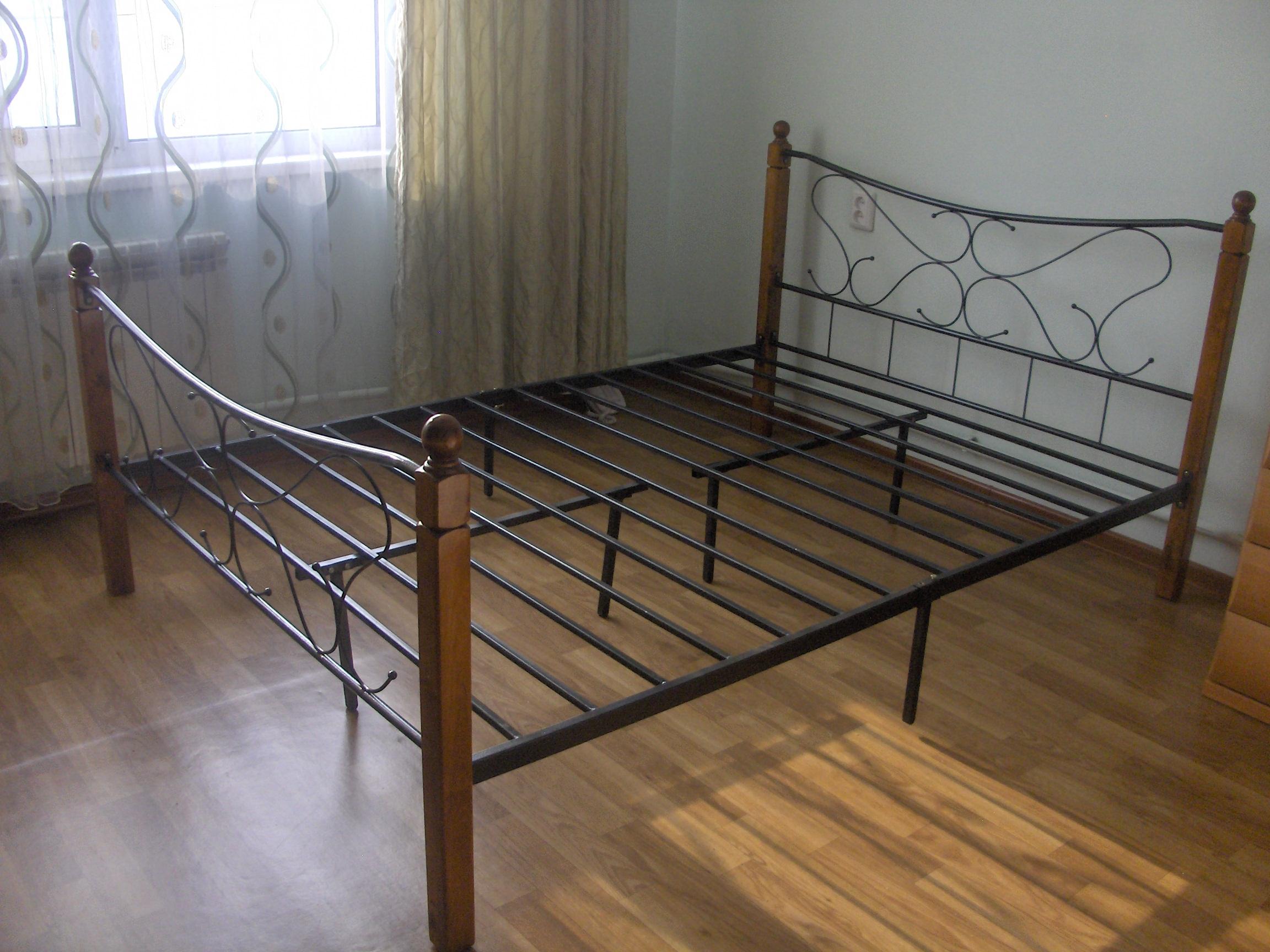 Металлический каркас для двуспальной кровати своими руками