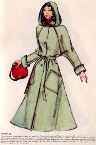 Чертежи выкроек из старого журнала. женское пальто. есть чертеж, в.
