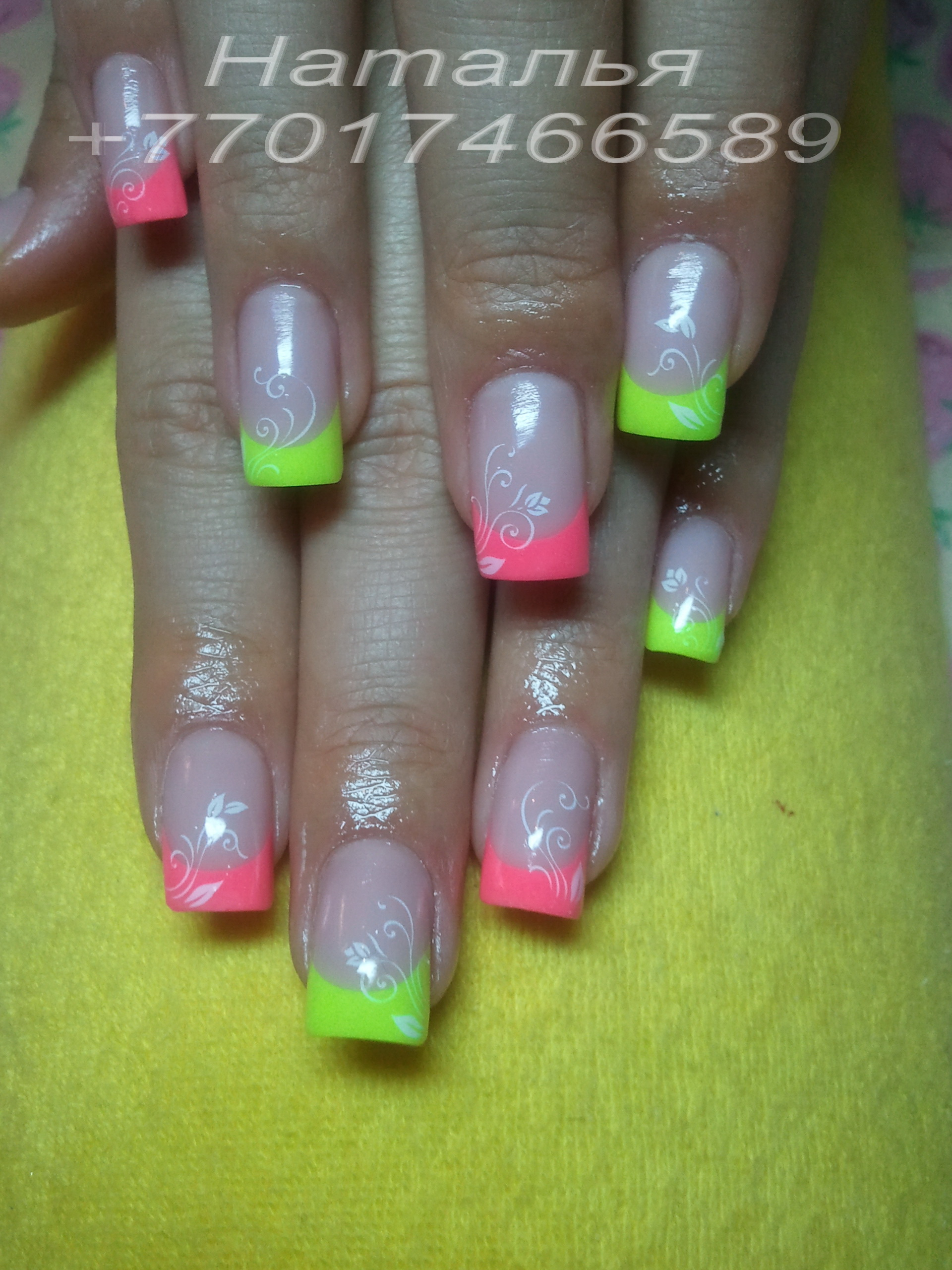 Ногти с цветными гелями фото