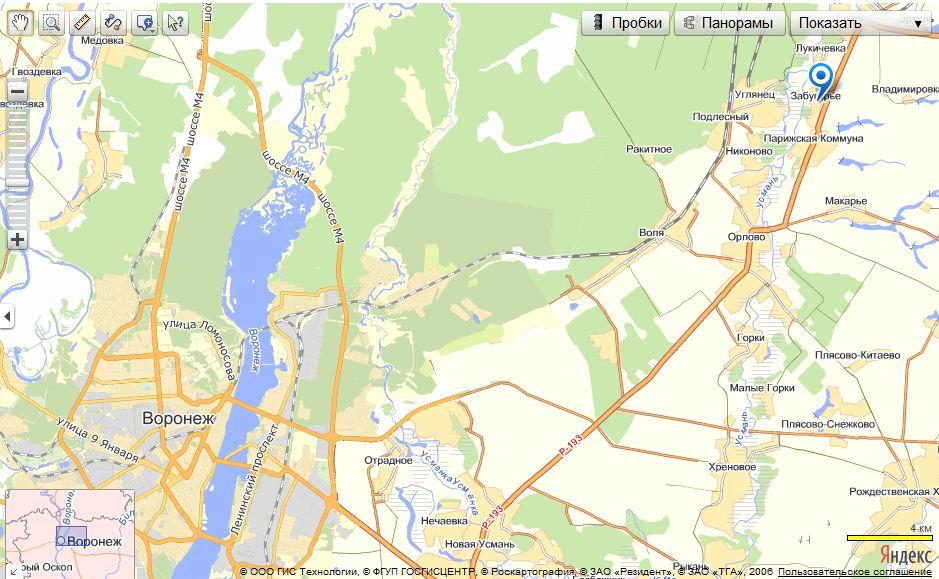 Фото карты коминтерновского района г воронежа
