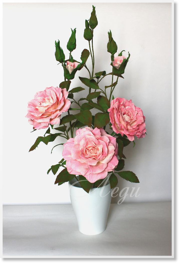 Цветы из фоамирана в интерьере