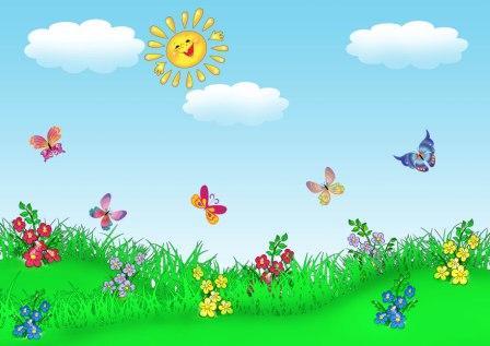Радуга картинка для детей нарисованная