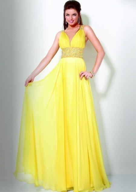 Самое красивое желтое платье