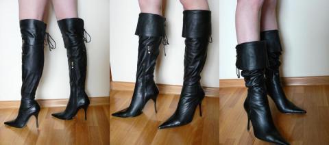 Сапоги ботфорты на полную ногу