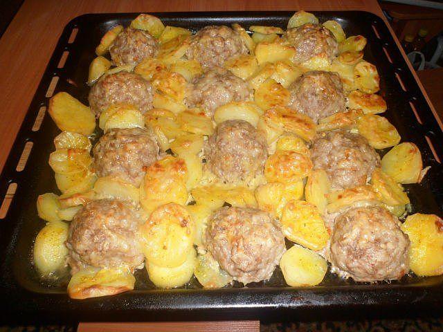 Рецепт картошка с мясным фаршем в духовке