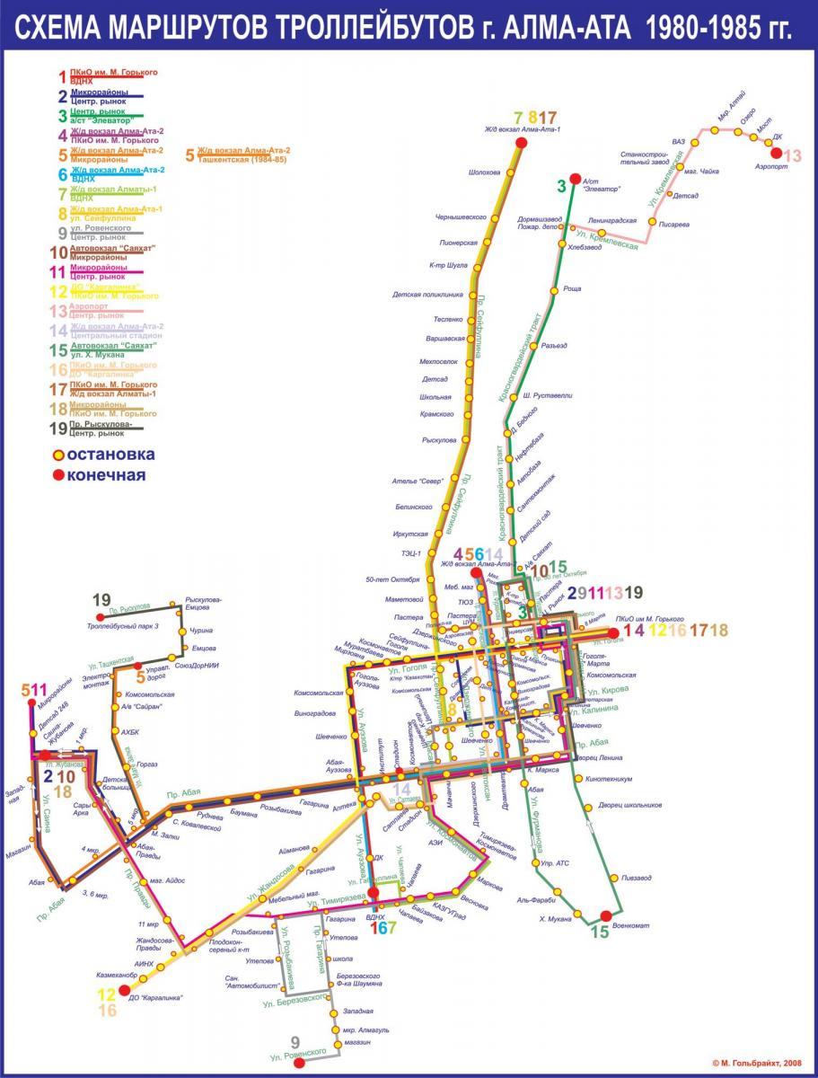 Схема маршрута 73 алматы