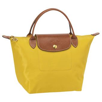 Longchamp Le Pliage Folding Handbags Curry.