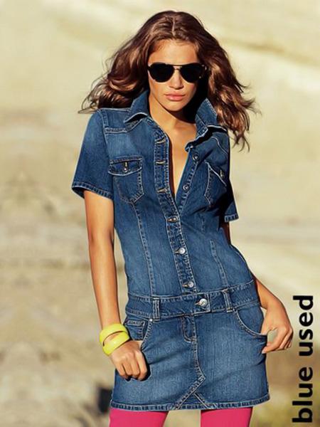 Купить длинные джинсовые платья оптом и в розницу у китайских Бесплатная доставка 2014 осенние женские