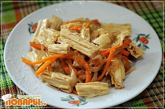 салат из грибов золотая игла по корейски рецепт