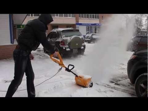 Самодельная электролопата для уборки снега своими руками