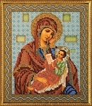Набор для вышивания бисером Кроше В-158 (Богородица Утоли Мои Печали)